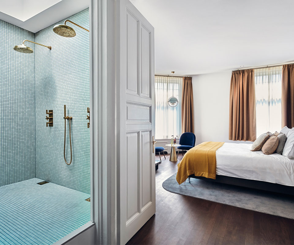 Badkamer in slaapkamer | Villa Amsterdam